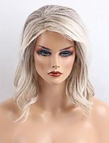 Popular  Attractive  Greyish White Curls Long Human Hair Wigs