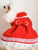 Dog Dress Dog Clothes Cute Christmas Bowknot Blushing Pink Pool Ruby Fuchsia Yellow