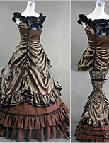 Una Sola Pieza/Vestidos Gosurori Lolita Cosplay Vestido  de Lolita Cosecha Casquillo Sin Mangas Hasta el Suelo Vestido por Otros