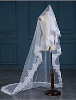 Wedding Veil One-tier Chapel Veils Cathedral Veils Lace Applique Edge Tulle Lace