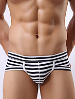 Male Men Push-Up Stripe Briefs  Underwear