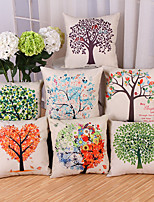 Set Of 7 Creative Tree Of Life Printing Pillow Cover Cotton/Linen Pillow Case Cushion Cover Home Decor