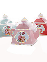 25pcs Creative Teapot Wedding Favors Box Flower Candy Box Chocolate Box Wedding Party Decoration