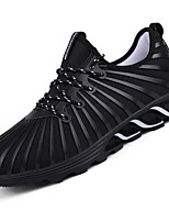 Men's Athletic Shoes Light Soles Tulle Spring Summer Fall Winter Athletic Casual Outdoor Track & Field Light Soles Lace-up Low HeelBlack