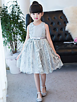 A-line Knee-length Flower Girl Dress Jewel with