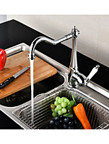 Contemporary Tall/­High Arc Centerset Rotatable with  Ceramic Valve Single Handle One Hole for  Chrome , Kitchen faucet