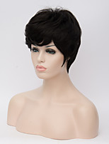 Europe and the United States Wig Short Hair Female Partial Hair Type Black Short Curly Hair Wig 8inch