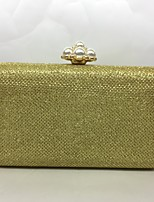 Women Evening Bag Metal All Seasons Formal Event/Party Baguette Beading Push Lock Silver Black Gold Champagne