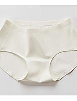 Rétro Solide Sous-vêtements Moulants Boxers-Nylon