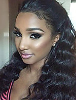 Natural Wavy Brazilian Virgin Hair 130% Density Lace Front Human Hair Wigs Remy Hair Wig with Baby Hair for Black Women