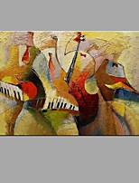 Hand-painted Wall Art Abstrac Home Decor Play Instruments Oil Painting Home Decoration with Stretched Framed Ready to Hang