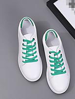 Women's Sneakers Comfort PU Spring Casual White/Green Black/White Pink/White Flat