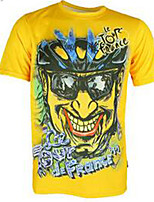 Men's Short Sleeve Bike Sweatshirt Breathable Comfortable Polyester Solid Summer Exercise & Fitness Running Black Yellow