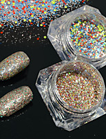 2bottles/set 0.2g/bottle Galaxy Nail Art Platinum Powder Shining Starry Effect DIY Holographic Pigment Glitter Powder BG23&24