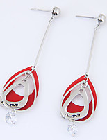 Women's Drop Earrings Cubic Zirconia Euramerican Fashion Alloy Teardrop Jewelry For Party 1 Pair