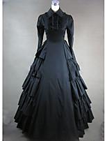 Un Pezzo/Vestiti Dolce Lolita Cosplay Vestiti Lolita Vintage Ad aletta Manica lunga Raso terra Abito Per Altro