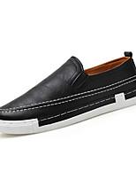 Для мужчин Мокасины и Свитер Удобная обувь Полотно Весна Повседневный Белый Черный Синий На плоской подошве