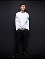 Men's Casual/Daily Simple Activewear Set Letter Round Neck Micro-elastic Fiber Polyster Long Sleeve Fall Winter
