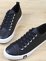 Men's Sneakers Comfort Canvas Tulle Spring Casual Comfort Black White Flat