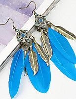 Belly Dance Jewelry Women's Performance Metal Feather 2 Pieces Earrings