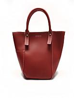 Damen Bag Sets PU Ganzjährig Einkaufstasche Magnetisch Weiß Schwarz Grau Braun Wein