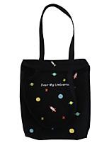Women Shoulder Bag Canvas All Seasons Casual Shopper Zipper Blushing Pink Black