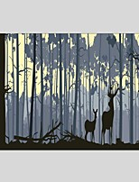 Oil Paintings Sika Deer Style Canvas Material With Wooden Stretcher Ready To Hang Size60*90CM and 50*70CM .