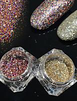 2bottles/set 0.2g/bottle Fashion DIY Shining Decoration Gorgeous Galaxy Starry Effect Nail Art Platinum Glitter Power BG03&06