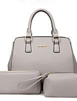 Damen Bag Sets PU Ganzjährig Baguette Bag Reißverschluss Blau Schwarz Grau Fuchsia
