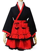 Un Pezzo/Vestiti Gotico Lolita Cosplay Vestiti Lolita Vintage Ad aletta Manica lunga Corto / Mini Abito Per Altro