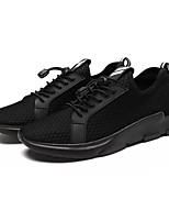 Men's Athletic Shoes Comfort PU Summer Outdoor Comfort Lace-up Flat Heel Black Black/White Under 1in