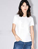 Tee-shirt Femme,Citations & Dictons Quotidien Décontracté simple Manches Courtes Col Arrondi Coton