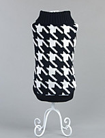 Dog Sweater Dog Clothes Casual/Daily Plaid/Check Black Ruby