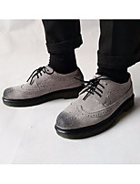 Men's Sneakers Comfort Suede Spring Daily Black Gray Almond Flat