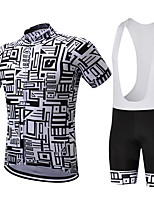 Cycling Jersey with Bib Shorts Men's Short Sleeve Bike Clothing Suits Quick Dry Breathable Sweat-wicking Compression Coolmax LYCRA®