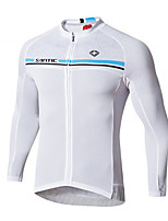 Cycling Jersey Men's Long Sleeve Bike Jersey 100% Polyester Fashion Spring Summer Leisure Sports Backcountry Grey Pearl