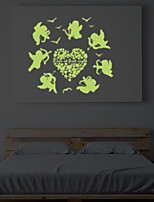 Night Light Luminous Stickers Home Decor Home Decoration Wall Sticker For Kids Rooms Wall Decals Cute Angels