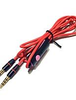 kuulokejohto mikrofonin kauko-ohjattu puhua 3,5 mm uros-uros stereoäänen johdot 120cm punainen