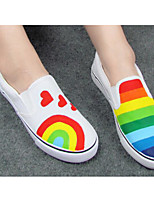 Dames Platte schoenen Comfortabel Canvas PU Lente Casual Regenboog Plat