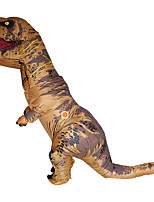 Inflatable Dinosaur T REX Costumes For Women Men Blowup T-Rex Dinosaur Halloween Inflatable Costume Mascot Party Costume For Adult Brown/Blue RedGreen