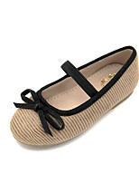 Girls' Flats Comfort Leather Tulle Spring Fall Outdoor Casual Walking Magic Tape Low Heel Fuchsia Gray Black Flat