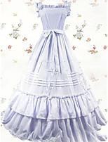 Un Pezzo/Vestiti Dolce Lolita Cosplay Vestiti Lolita Vintage Ad aletta Raso terra Abito Per Altro