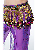 Belly Dance Hip Scarves Women's Performance Sequin Chiffon Belt Beading Sequin Tassel(s) Paillettes 1 Piece Hip Scarf