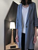 Damen Blazer,Hemdkragen ¾ Ärmel