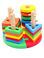 Building Blocks Pegged Puzzles For Gift  Building Blocks Leisure Hobby Wood 2 to 4 Years Toys
