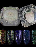 0.2g/bottle Nail Art Glitter Holographic Powder Sparkling Shining Decoration Nail Art DIY Beauty Starry Effect Charming Design