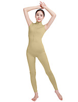 Unisex Lycra Spandex Unitard V-Neck Open Back Sleeveless Footless Elastane Bodysuit Costume