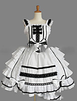 One-Piece/Dress Sweet Lolita Lolita Cosplay Lolita Dress Vintage Cap Sleeveless Short / Mini Dress For