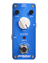 Aroma ABS-3 Blues mini Guitar Effect Pedal Truebypass Gain Tone Level Adjustable