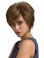 Refreshing Oblique Fringe Natural Short Hair Synthetic Wig